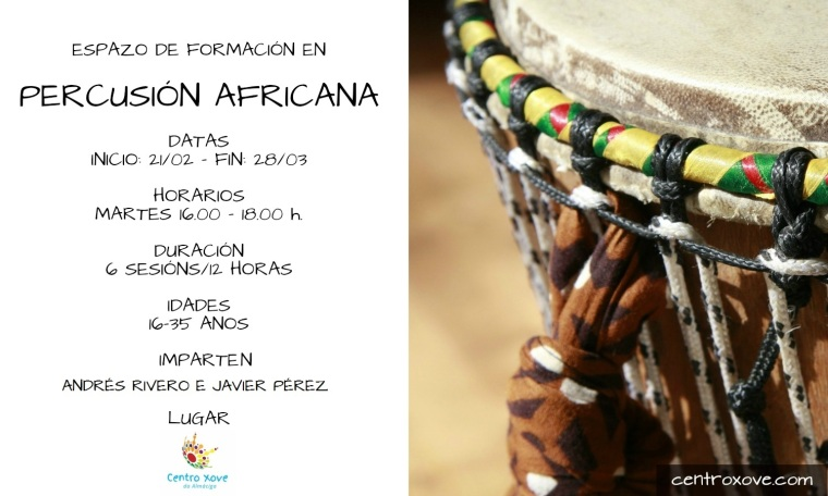 curso de percusion africana